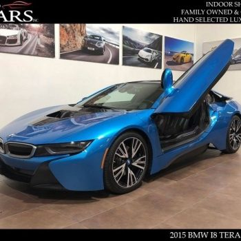 Awesome 2015 BMW i8 Base Coupe 2-Door 2015 BMW i8 Tera World Blue Seat Belts 16k Miles Navigation 2018-2019