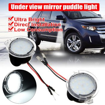 Awesome 2x LED Side Rear View Mirror Puddle Lights For Ford C-Max Focus Kuga Mondeo Edge 2017/2018