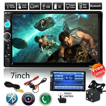 Awesome 7″ Double 2 Din Car Touch Screen MP5 Player Stereo Radio Bluetooth +Camera 7010B 2018-2019