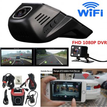 Awesome FHD 1080P Hidden Wifi Car SUV DVR Dash Video Recorder Dual Lens Camera +G-Sensor 2017/2018