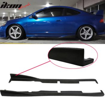 Great For 02-06 Acura RSX DC5 CS Style Bottom Line Side Skirt Extensions – Urethane PU 2018-2019