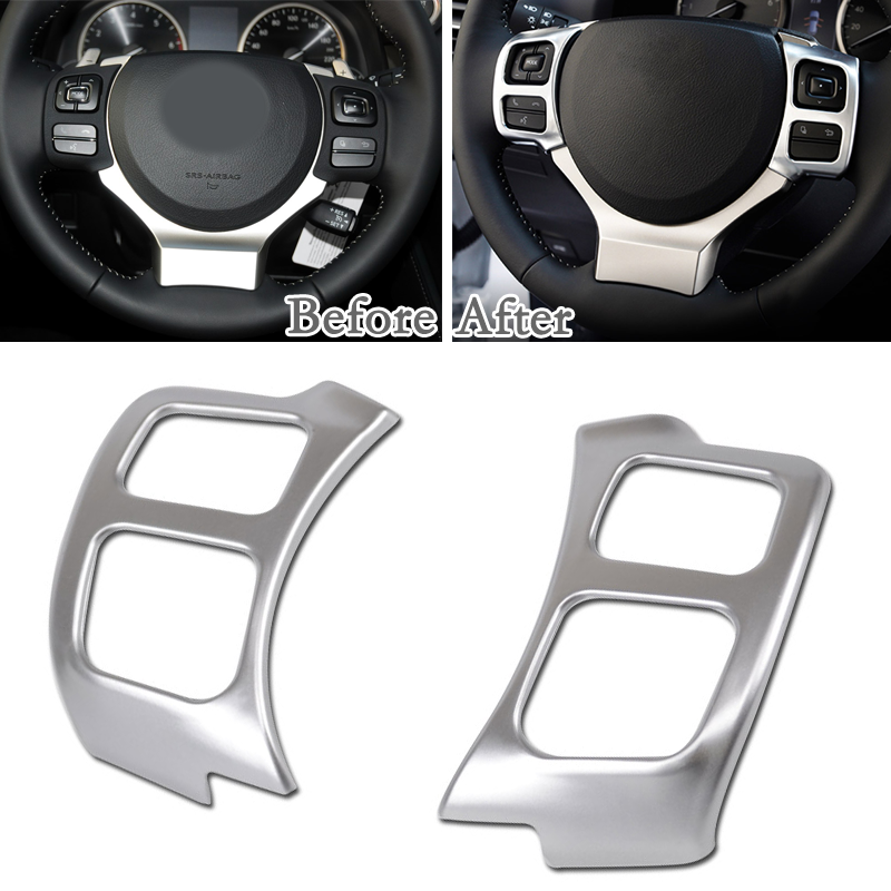 Item specifics Condition: New Brand: Unbranded UPC: Does not apply Manufacturer Part Number: Does Not Apply 2pcs/set Panel Frame Steering Wheel Cover Trim For Lexus NX 200T 300H 2015-2016