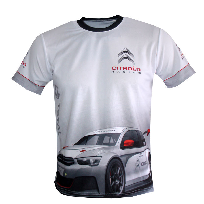 "Item specifics Condition: New without tags: A brand-new, unused, and unworn item (including handmade items) that is not in original packaging or Brand: ""Handmade"" Color: Multi-Color Style: sublimated print Sleeve Length: Short Sleeve Material: 100% polyester Pattern: sublimated printed sublimation Citroen c-elysee wtcc quality logos and graphics men's t-shirt"