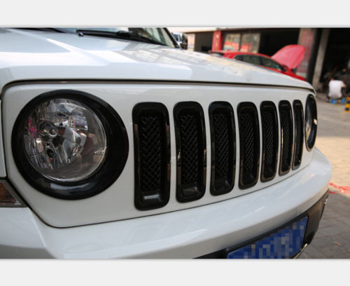 Item specifics Condition: New Brand: HT Surface Finish: Black Manufacturer Part Number: HT-0871-13 Material: ABS plastic Placement on Vehicle: Front UPC: Does not apply For Jeep Patriot 2011-2017 Black Headlight Lamp Cover Trim