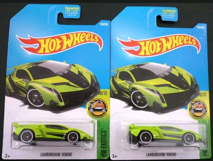 Item specifics Condition: New: A brand-new, unused, unopened, undamaged item (including handmade items). See the seller's Vehicle Type: Car Year of Manufacture: 2017 Color: Green Series: Hot Wheels Exotics Vehicle Year: 2017 Brand: Hot Wheels Scale: 1:64 Vehicle Make: Lamborghini Hot Wheels / Lamborghini Veneno / Green / Exotics ~ 2013 LOT OF 2