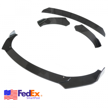 Used 3PCS Car Front Bumper Lip Chin Winglet Splitter Body Kit Carbon Fiber Style USA 2020