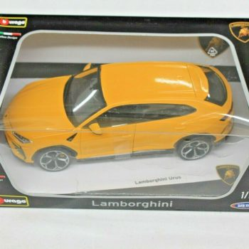 Used LAMBORGHINI URUS YELLOW 1/18 DIECAST MODEL CAR BY BBURAGO NEW dented box 2020