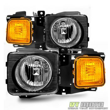 Used 2006-2010 Hummer H3 H3T Headlights Headlamps Aftermarket Left+Right 06-10 Pair 2019-2020