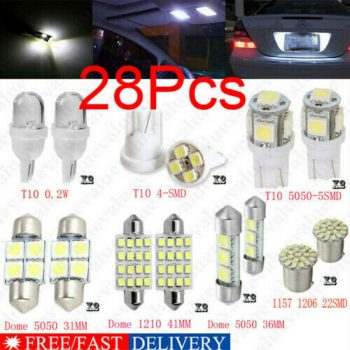 Used 28Pcs Auto Car Interior LED Light Dome License Plate Mixed Lamp Set Accessories~ 2019-2020